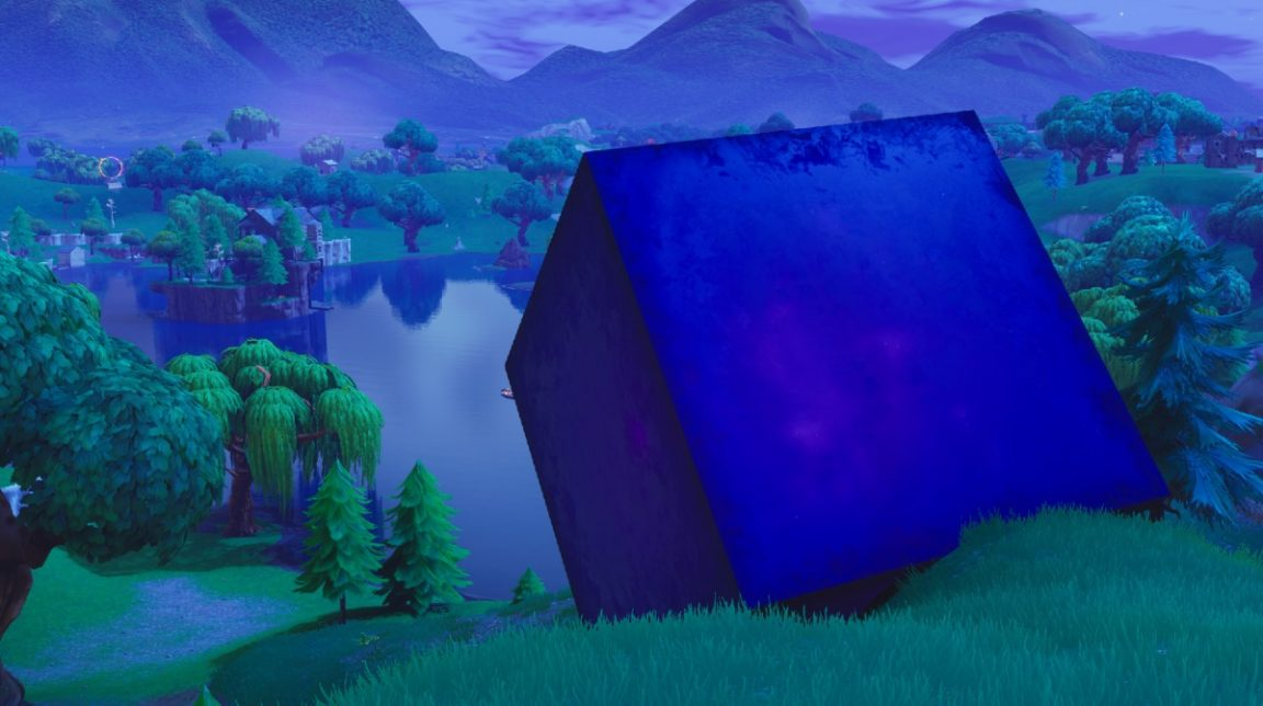 The Fortnite Cube Just Dissolved Into Loot Lake